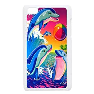 High Quality Phone Case FOR IPod Touch 4th -Dolphins And Ocean-LiuWeiTing Store Case 16