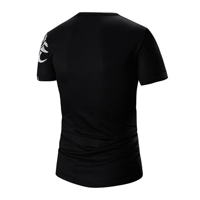 Camiseta para Hombre, ❤️Xinan Camisas de impresión de Moda de ...
