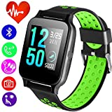 Smart Watch Fitness Tracker with Heart Rate Blood Pressure Monitor for Men Women Kid with Activity Run Outdoor Sports Watch GPS Tracker Pedometer Calorie Sync Phone Electronic Wearable for Android iOS