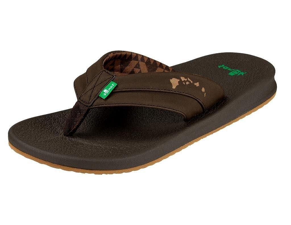Sanuk Casual Sandals Mens Brumeister Hawaii Slip On Molded 1018744