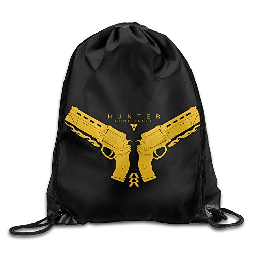 [Destiny Hunter Gunslinger Logo Drawstring Backpack Bag] (Woman Gunslinger Costume)