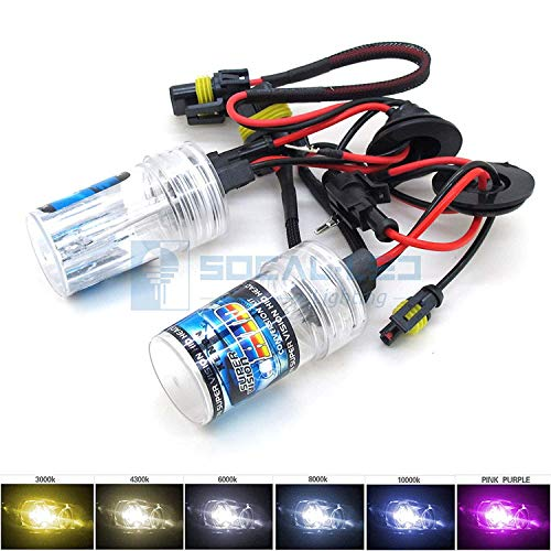 (O-NEX 2X Xenon HB4 9006 HID Bulbs AC 35W Headlight Replacement High Bright 6000K Crystal White)