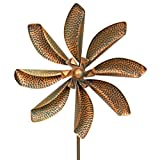 Best Choice Products Flower Wind Spinner Forked Stake 63'' High x 20'' Wide, Bronze