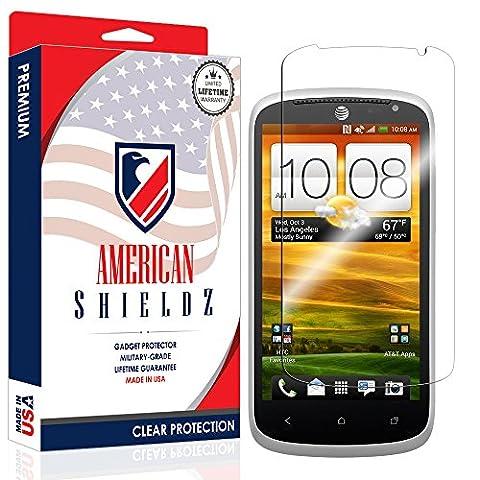 [USA] HTC One VX Screen Protector, American Shieldz Full Coverage Screen Edge-to-Edge, HD Clear Anti-Bubble, Lifetime (Screen Protector Htc One Vx)