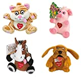 Just For Laughs Crazy Animals Keychain 4-Pack (Cat, Dog, Horse, Pig)
