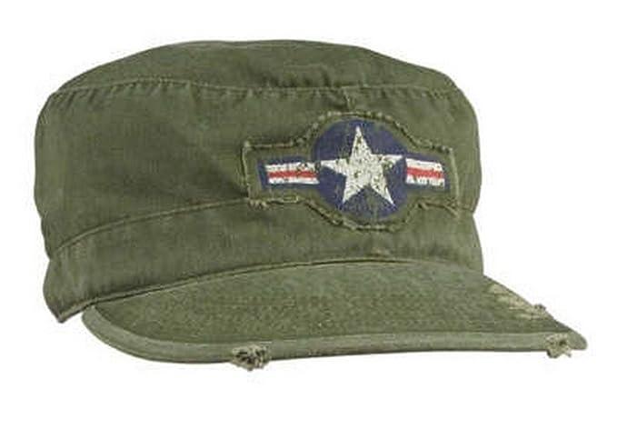 2337db419822b Mens Military Hat - Vintage Army Air Corp Fatigue Cap Olive Drab Small  -Rothco
