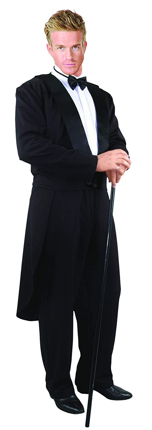 Victorian Men's Costumes: Mad Hatter, Rhet Butler, Willy Wonka Charades Mens Formalities Tuxedo Jacket $45.60 AT vintagedancer.com