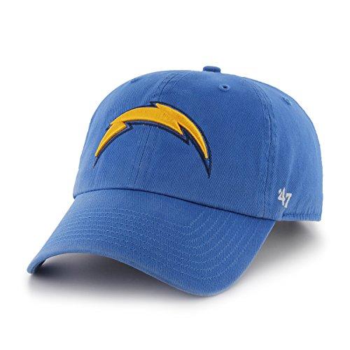 ましいアフリカ人素敵なNFL San Diego Chargersブランド' 47 Clean Up Adjustable Hat、ブルーRaz、1サイズ