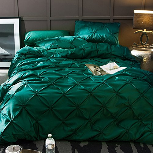 ヨーロッパの 4 つの部分,綿 綿 結婚 な 固体 プリンセス風 掛け布団カバー ダブル シート 1 掛け布団カバー, 1 枚, 2 枕カバー 4 個-A B07F65ZZF3 Queen2|A A Queen2
