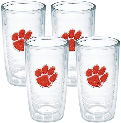 Tervis Tumbler Clemson University 16-Ounce Double Wall Insulated Tumbler, Set of 4