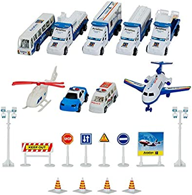 Party JoyABit Kids Airport Playset with Toy Airplanes Play Vehicles Girls Gift Kids and Accessories Best Party Favor Enjoyment Birthday Theme Boys Fun Ideal Gift for Preschool Toddlers