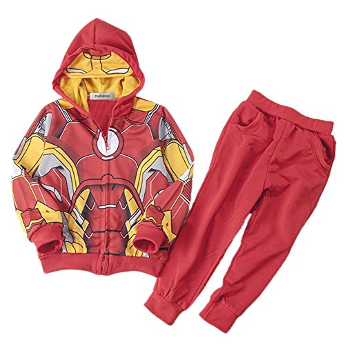 [StylesILove Super Hero 2PC Costume Hoodie Jacket and Pants (2-3 Years, Iron Man)] (Iron Man 3 Costumes Kids)