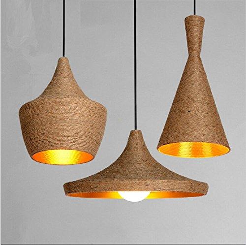 Pendant Lights 3 Head Vintage Pendant Lights Loft Lamp Nordic Hang lamp Restaurant Kitchen Light Suspension Luminaire Home Industrial Lighting Bulbs is NOT included , (Burgandy Ceiling Lighting)