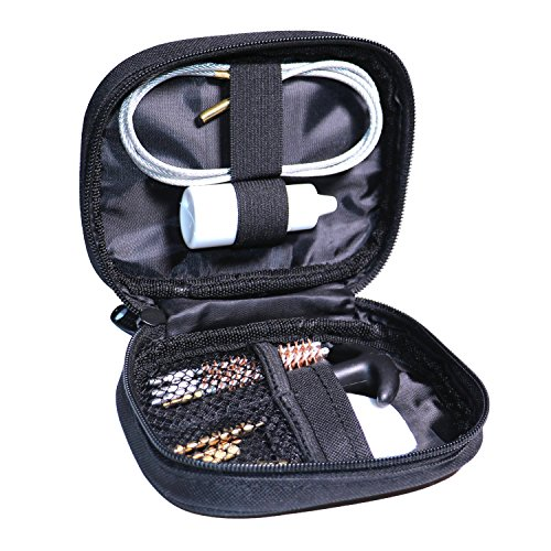 (Eamber Gun Cleaning Set Pistol Shotgun Cleaning Perfect for for 5.56 7.62 22 Cal 117 Hand Guns with Brass Brushes Jags Tips Cleaning Patches)