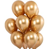 Balloome Gold Balloons Chrome Shiny Metallic Latex 12 Inch Thicken Balloons 50 Pack for Wedding Party Baby Shower…