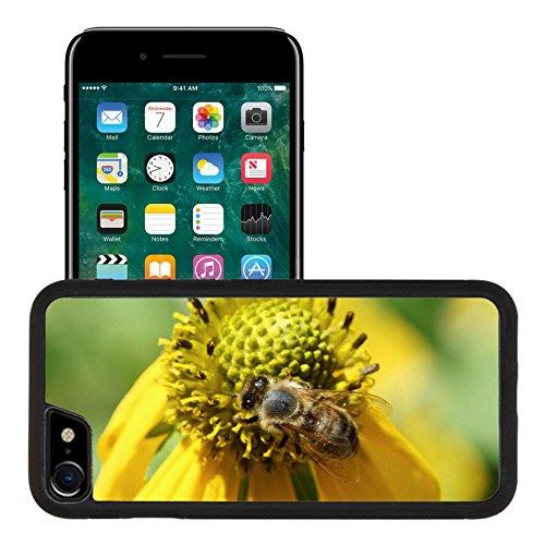 Liili Premium Apple iPhone 7 iPhone 8 Aluminum Snap Case Honey Bee collecting Pollen from a Yellow Daisy IMAGE ID (Aluminum Honey)