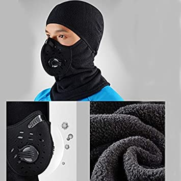 RockBros Cycling Headband Scarf Winter Outdoor Warm Fleece Mask with Filter