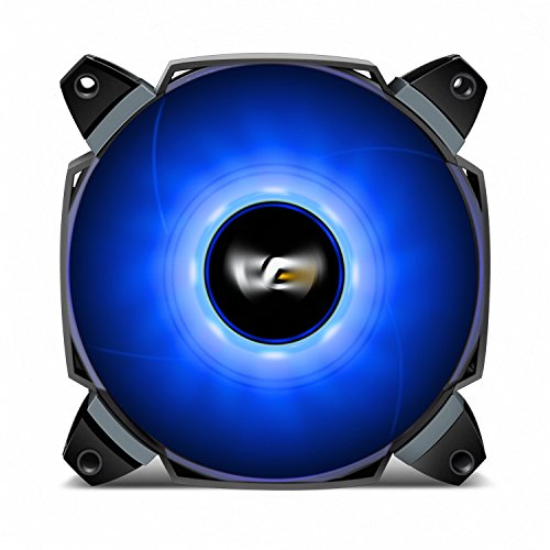 darkFlash Dual Blade 120mm Case Fan with Large Air Circulation and LED Radiator Fan with Anti-Vibration Mounting System Cooling Cooler for Computer Cases CPU Coolers and Radiator (120mm, Blue)