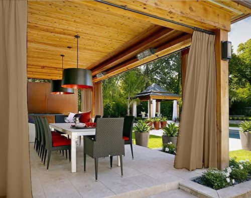 cofty al aire libre cortina paneles para patio| porch| gazebo ...