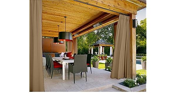 cofty al aire libre cortina paneles para patio| porch| gazebo ...