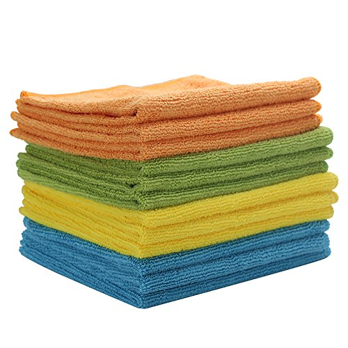 Microfiber Cleaning Cloth - Multipurpose & Reusable Cleaning Towel, Perfect For Your Home, Office, Car & All Other Cleaning Needs (12, 12in x 12in)