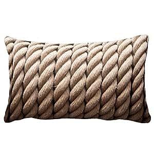Amazon Com Rectangle Nautical Rope Cushion Cover Beach