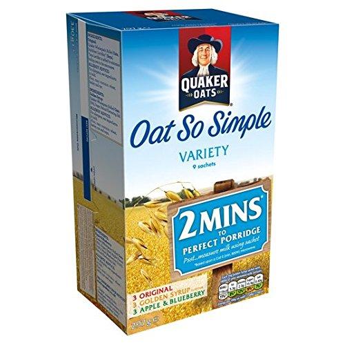 Avena Quaker tan simple paquete de la variedad Gachas de 9 x 33g: Amazon.es: Alimentación y bebidas