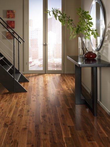 Cheap  Acacia Walnut Solid Prefinished Hardwood Wood Floor Flooring - Morning Coffee