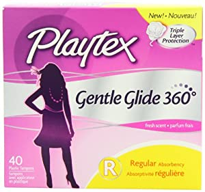 Playtex Gentle Glide Tampons, Fresh Scent