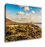 Ashley Canvas, Diamond Head And Queens Surf Beach In Honolulu Hawaii, Home Decoration Office, Ready to Hang, 20x25, AG6409444