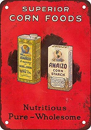 Fsdva 1926 Amaizo Superior Corn Starch and Oil Vintage Look Reproduction Metal Tin Sign 12x16 Inches