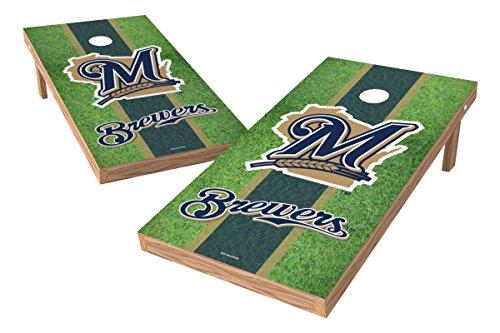 (MLB Milwaukee Brewers Field XL Shield Tailgate Toss Game, 24