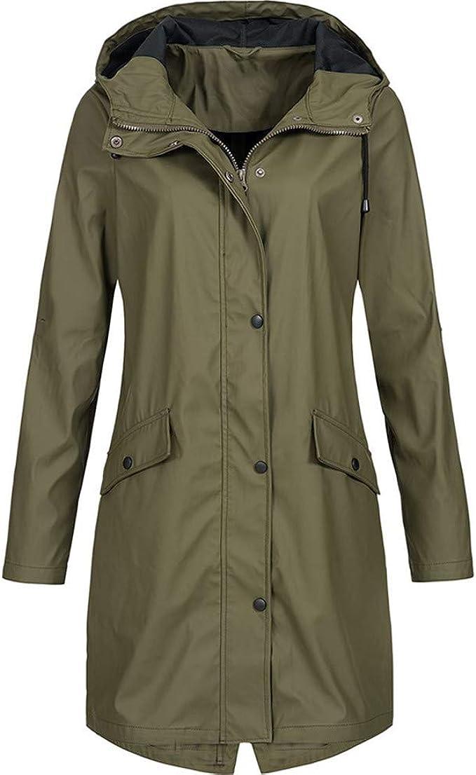 Womens 20 22 Rain Coat Parker Sky Pink Print Waterproof Jacket Hood Ladies