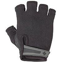 Harbinger Power - Guantes para levantamiento de pesas sin cinturón, con malla elástica y palma de cuero (par), grandes