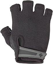 Harbinger Luvas Power Non-Wristwrap para musculação com malha elástica nas costas e palma de couro (par)