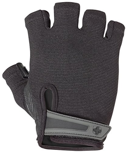 Harbinger Power Non-Wristwrap Weightlifting Gloves with StretchBack Mesh and Leather Palm (Pair), XX-Large