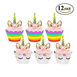 Cupcake Toppers and Wrappers Kids Party Cake Decorations Set of 24