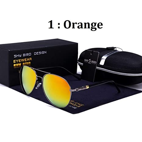Yangjing-hl Color Red Versátil Gafas de Sol con ...