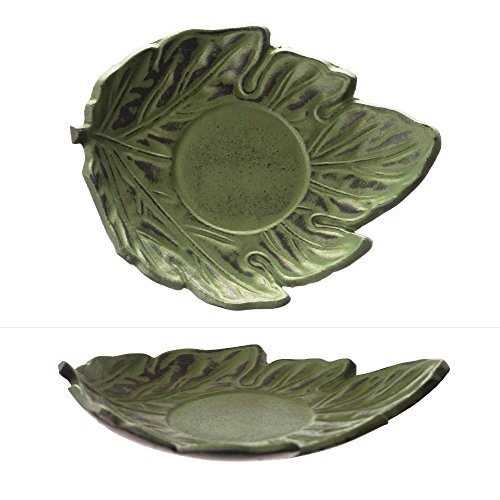 M.V. Trading T7046 Cast Iron Coaster, Green Leaf