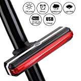 VIVREAL Bike Tail Light, Rechargeable Bike Light for Cycling Safety Flashing with 6 Lighting Modes – Helmet and Frame Adjustable, Safety Red Light, Water Resistant, Mountain and Road Compatible