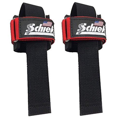 Schiek Power Lifting Straps - Red by Schiek