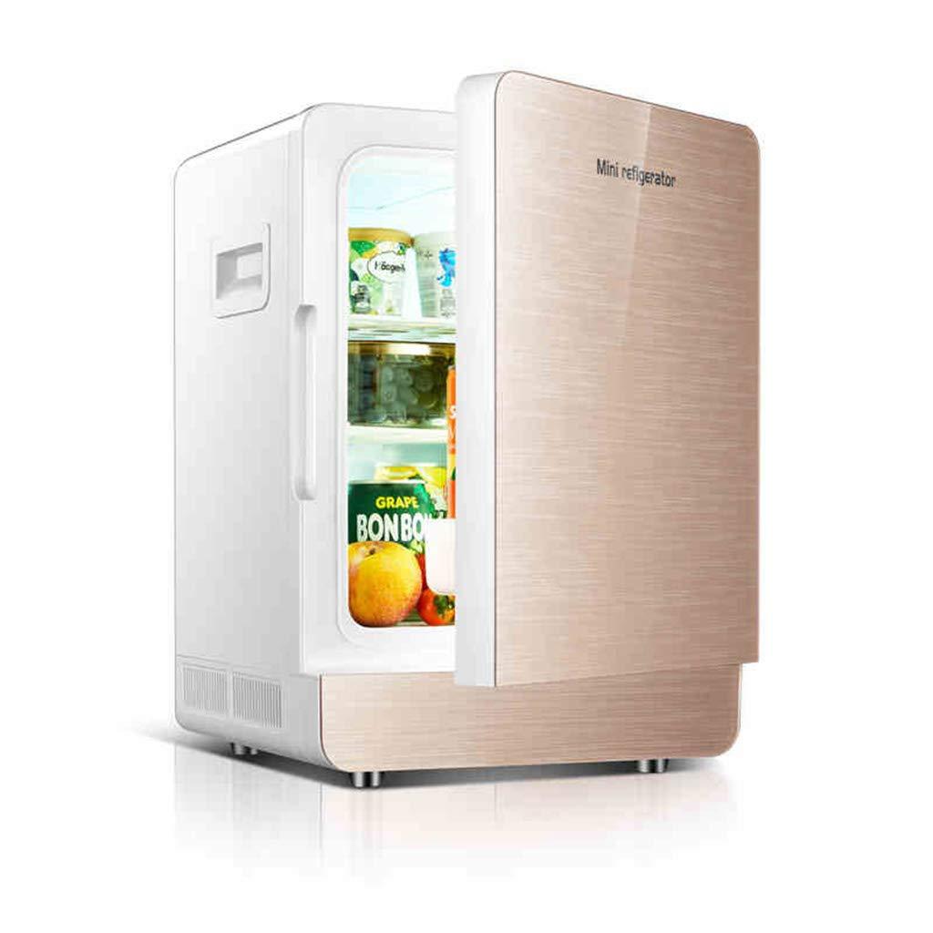GJM Shop 20L 車の冷蔵庫 シングルドア シングルコア 車の家庭の二重使用 冷蔵庫 (色 : ゴールド)  ゴールド B07G12RQM9