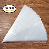 Kootek 100 Pack 16 Inch Extra Thick Pastry Bags Large Disposable Icing Decorating Bags Cake Piping Bags with 5 Bag Ties for all Sized Tips Kit and Couplers Baking Cupcakes Cookies Candy Supplies Tool