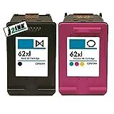J2INK 2 Pack #62 XL Black &Color Ink Cartridges for ENVY 5640 5642 5643 5644 (2 Pack)
