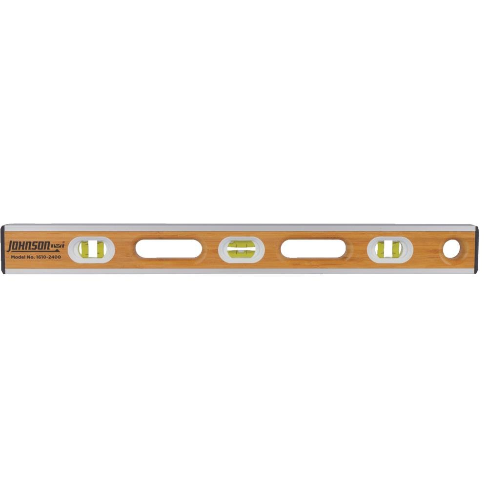 Johnson Level 1600-2400 24-Inch Eco-Tech Bamboo Level, Brown by Johnson Level (Image #1)