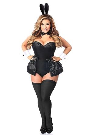 d5db22e82bd1 Amazon.com  Daisy Corsets Women s Lavish 5 Pc Formal Tuxedo Bunny Corset  Costume  Clothing