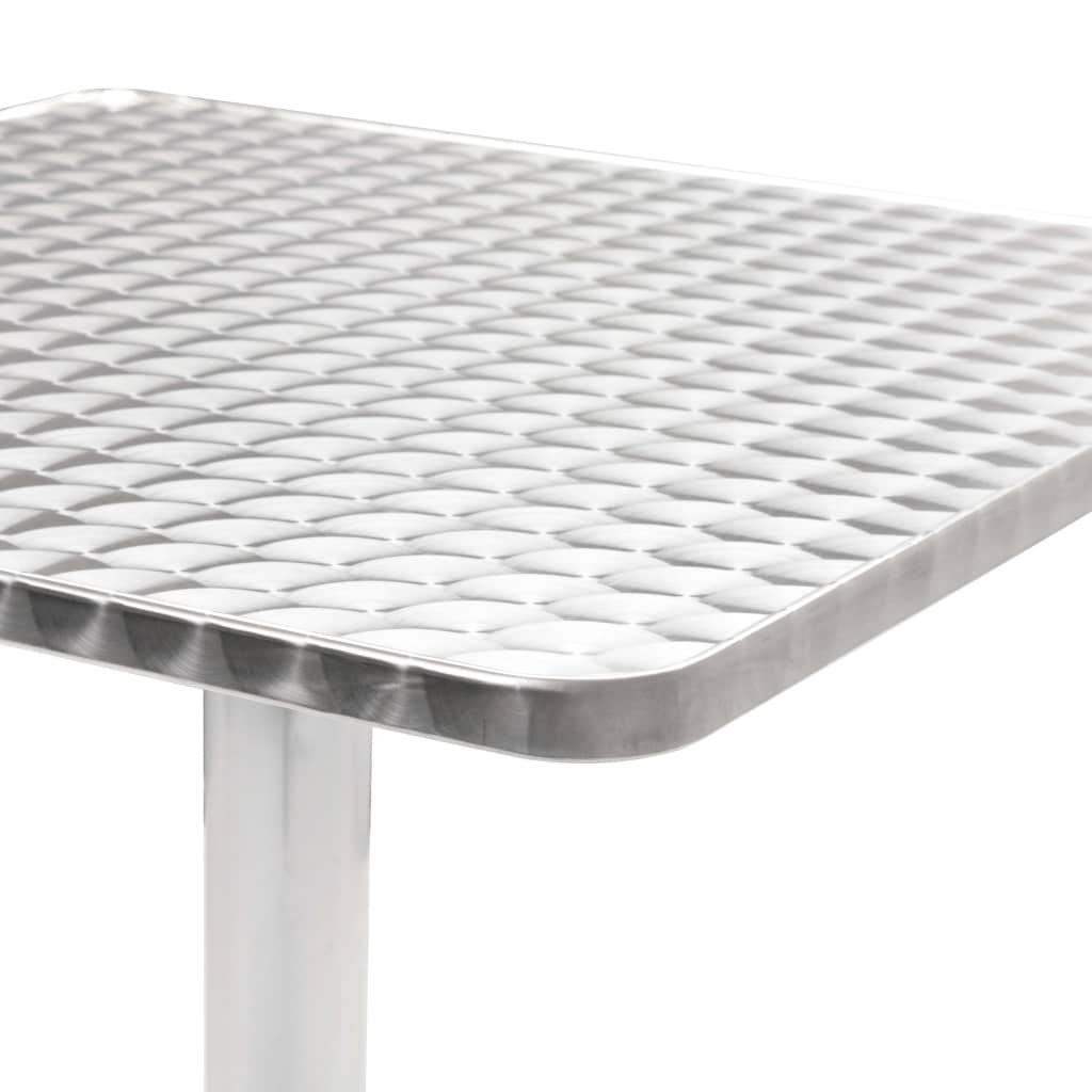 Festnight Mesa Aluminio de Jard/ín de Camping Cuadrada Mesa Auxiliar,60x60x70 cm