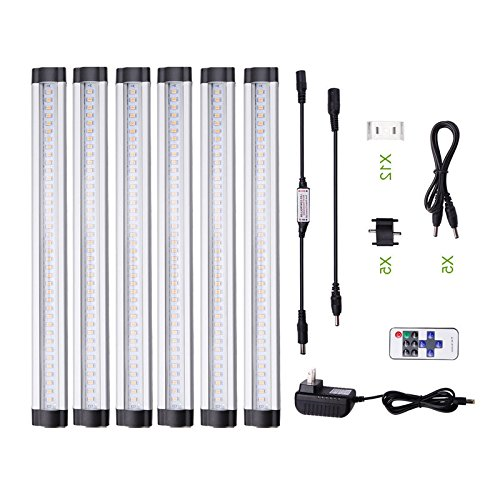 Acebox® 12 inch Dimmable Under Cabinet Lighting/ 6 Panel Deluxe Kit/ Total of 24 Watt/ 12 V DC/1800lm/ Daylight White/ 48W Fluorescent Tube Equivalent/ All Accessories Included/ LED Light Bar, Strip lights by Acebox (Image #4)