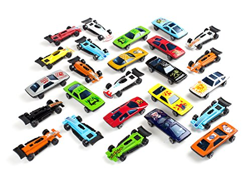 Race Themed Costumes (25 PC Diecast Car Set Assorted Styles - Exciting Party Favor Cars for Kids, Christmas Gifts, Stocking Stuffer, Trick-or-Treaters, Easter Basket Gifts, Toy Car Collections)