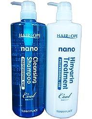 Sunny Place Heaope nano-cleansing shampoo and Hin Ya phosphorus treatments refreshing type 1000mL bottle set